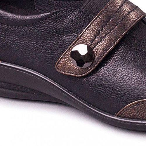Negro Zapatos Padders Tacón De Mujer wBq71OU