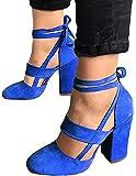 Minetom Eleganti Donna Moda Sandali da Sposa Tacco a Spillo Tacchi Alti Sottili Block Partito Scarpe da Sposa Aperte con Cordoncino