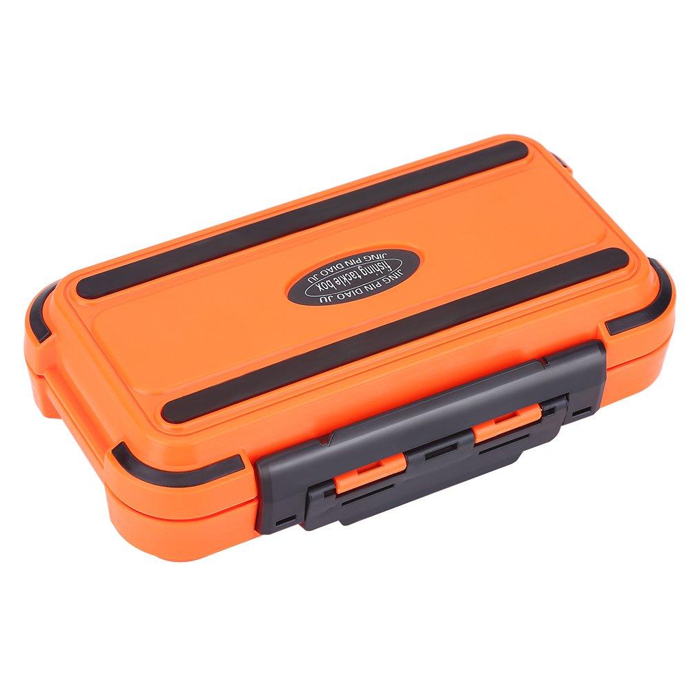 Alomejor Fishing Tackle Box Wasserdicht Gear Equipment Aufbewahrung Zubeh/ör 2/Farben 24/Slots