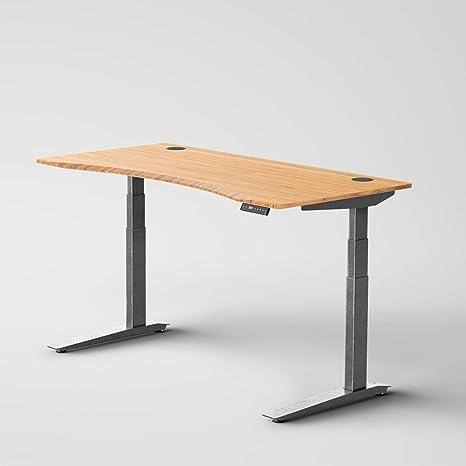 Jarvis escritorio de pie con parte superior de bambú, mesa de ...