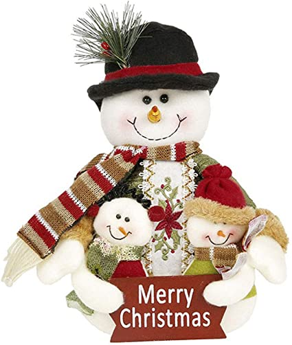 "New Christmas House Plush 10/"" Snowman Sitting ~ Qty 1"