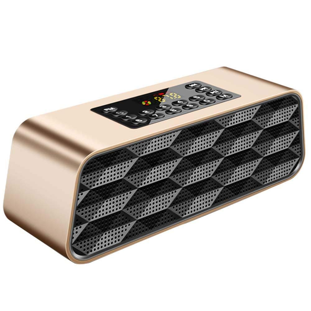 Johlycao Bluetooth Speaker Portable Heavy Bass Stereo Surround Speaker Wireless Radio Spearker USB U Disk TF Card Player for Bedroom Office Desptop