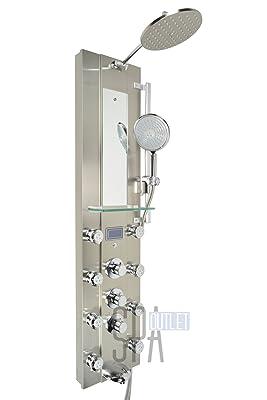 "Blue Ocean 52"" Stainless Steel SPV962332 Thermostatic Shower Panel"