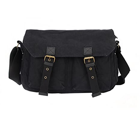 e94ce31273 MiCoolker Classic Messenger Bag Canvas Crossbody Shoulder Bag Men s Shoulder  Travel Bag Business Bag For Laptop