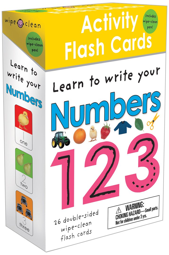 Wipe Clean Activity Flash Numbers