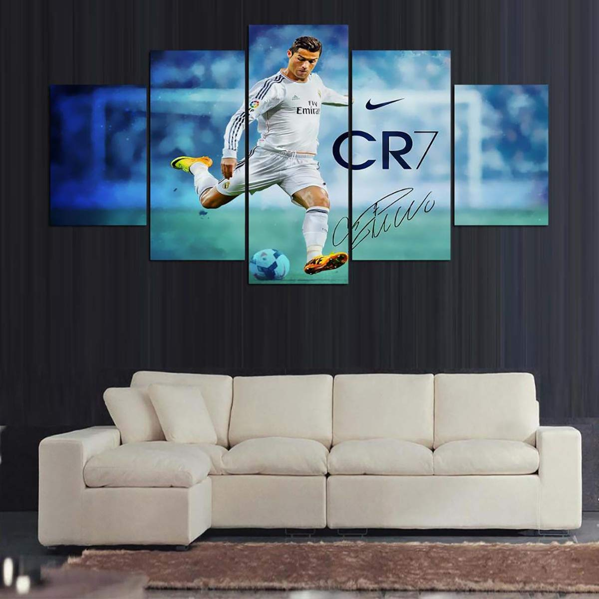LHKAVE 5 Panel de Lona Impreso Real Madrid Ronaldo Pintura ...