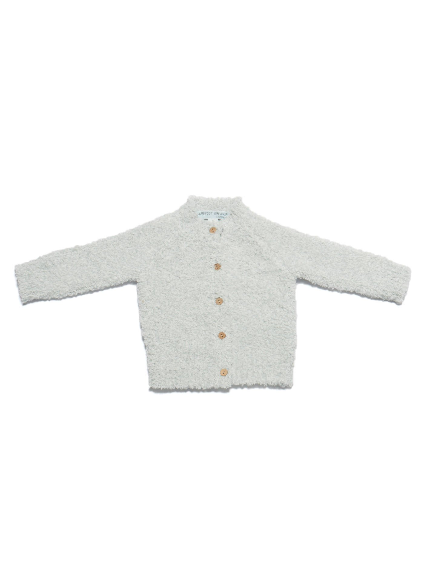 Barefoot Dreams CozyChic Infant Heathered Cardigan Blue/White by Barefoot Dreams