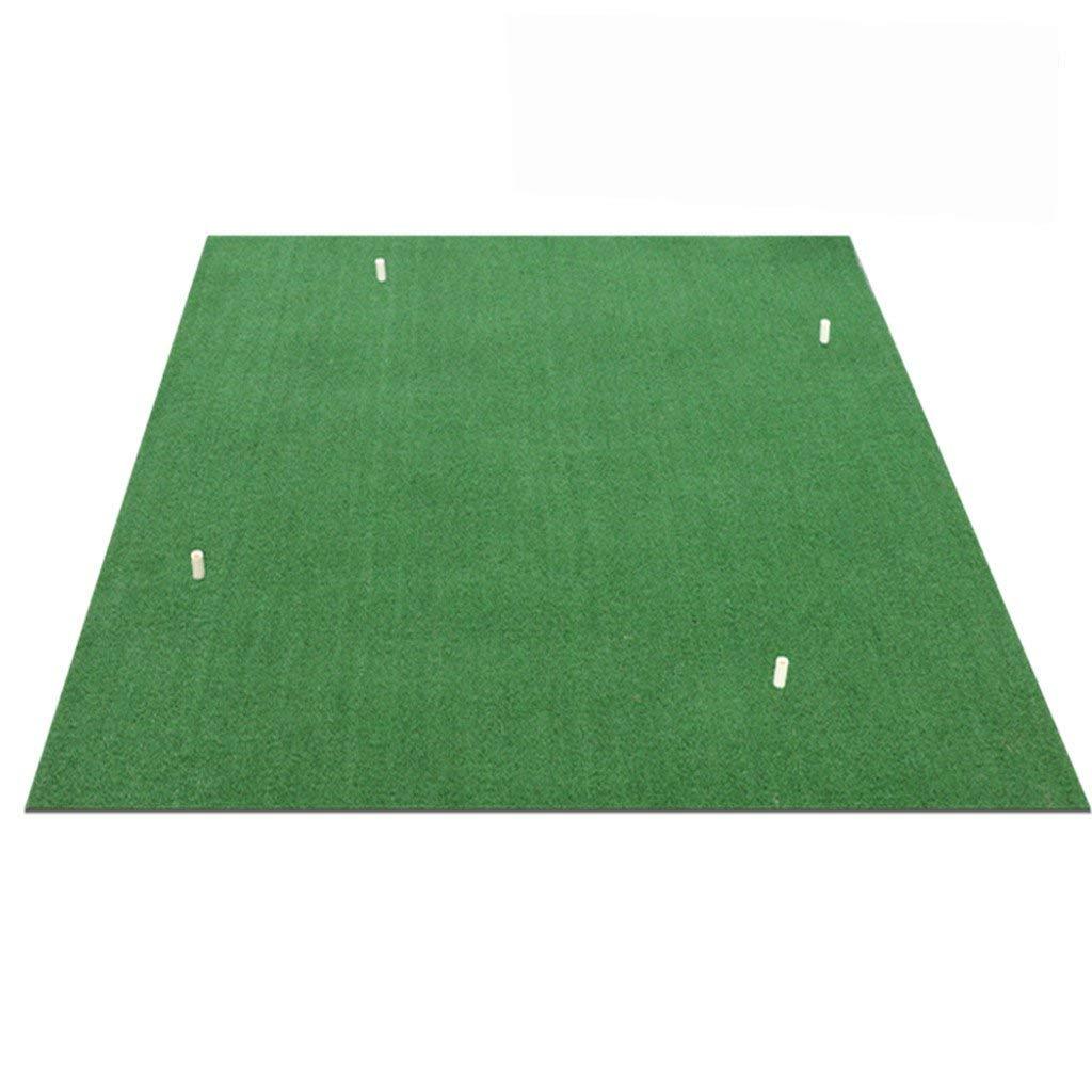 ゴルフマットホームゴルフパッティング練習スイングトレーナー屋内肥厚パッドトレーニングパーソナルグラスカーペット、100 * 120 cm