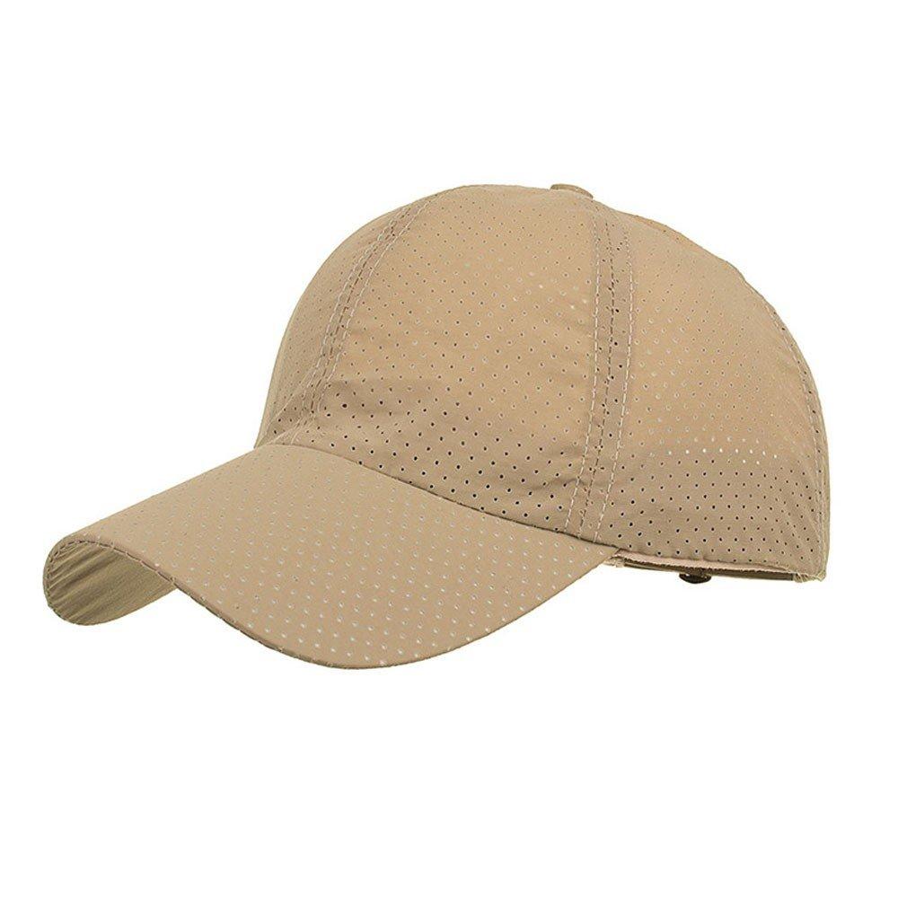 Unisex Fashion Golf Cap Adjustable Summer Solid Hat Ventilation Baseball Hats Breathable Lightweight Mesh Cap (Khaik) by Cealu (Image #1)