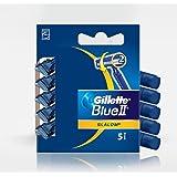 Gillette Blue II Slalom Disposable Razor 5 Pack
