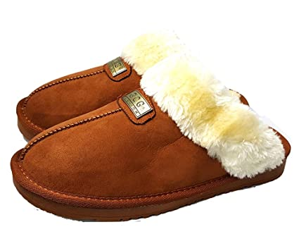 ef68b1fbe9e0 Geniune GCG Ladies Faux Sheepskin Slippers Mules Non Slip Hard Sole Womens  (7