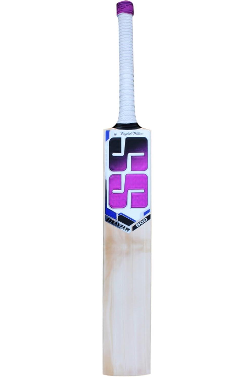SS Master 500 English Willow Cricket Bat ** Free Extra SS bat Grip SS Anti Scuff Sheet and SS Bat Cover **