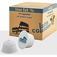 Caffè Colosseo - Magere Melk - 50 Dolce Gusto Compatibel Cups (50 Cups, 50 Porties, Melk met laag vetgehalte, zonder…