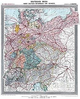 Deutsches Reich Karte 1943.Historische Karte Deutschland Grossdeutsche Reich Mit