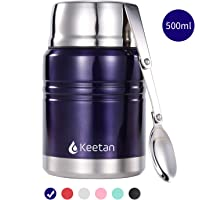 Keetan Food Jar Vacuum Insulated Stainless Steel Food Container with Folding Spoon Lunch Box