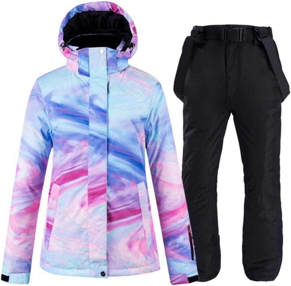 Schwarzer Anzug XL ZYJANO Skianzug Dicke warme Skianzug Frauen wasserdicht Winddicht Skianzug und Snowboard Anzug Frauen Winteranzug Streetwear