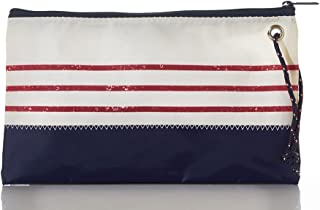 product image for Sea Bags Recycled Sail Cloth Red Mariner Stripe Wristlet Large
