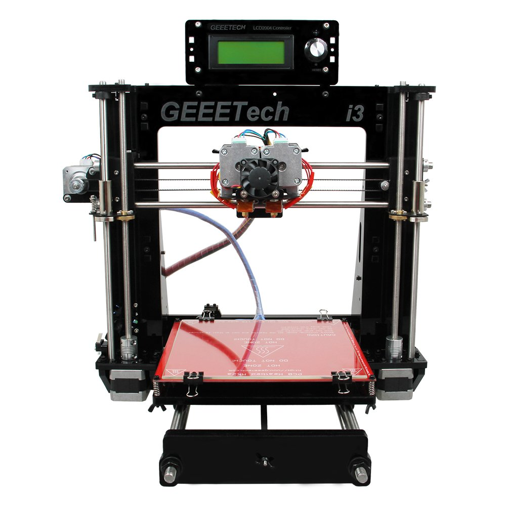 Geeetech 3D Drucker, Wooden (Holz) Prusa I3 Pro W Schreibtisch 3D Drucker Selbstbau-Set mit WIFI Cloud, 200x200x180 mm Druckraum, Unterstü tzt WIFI Verbindung, EasyPrint 3D App …