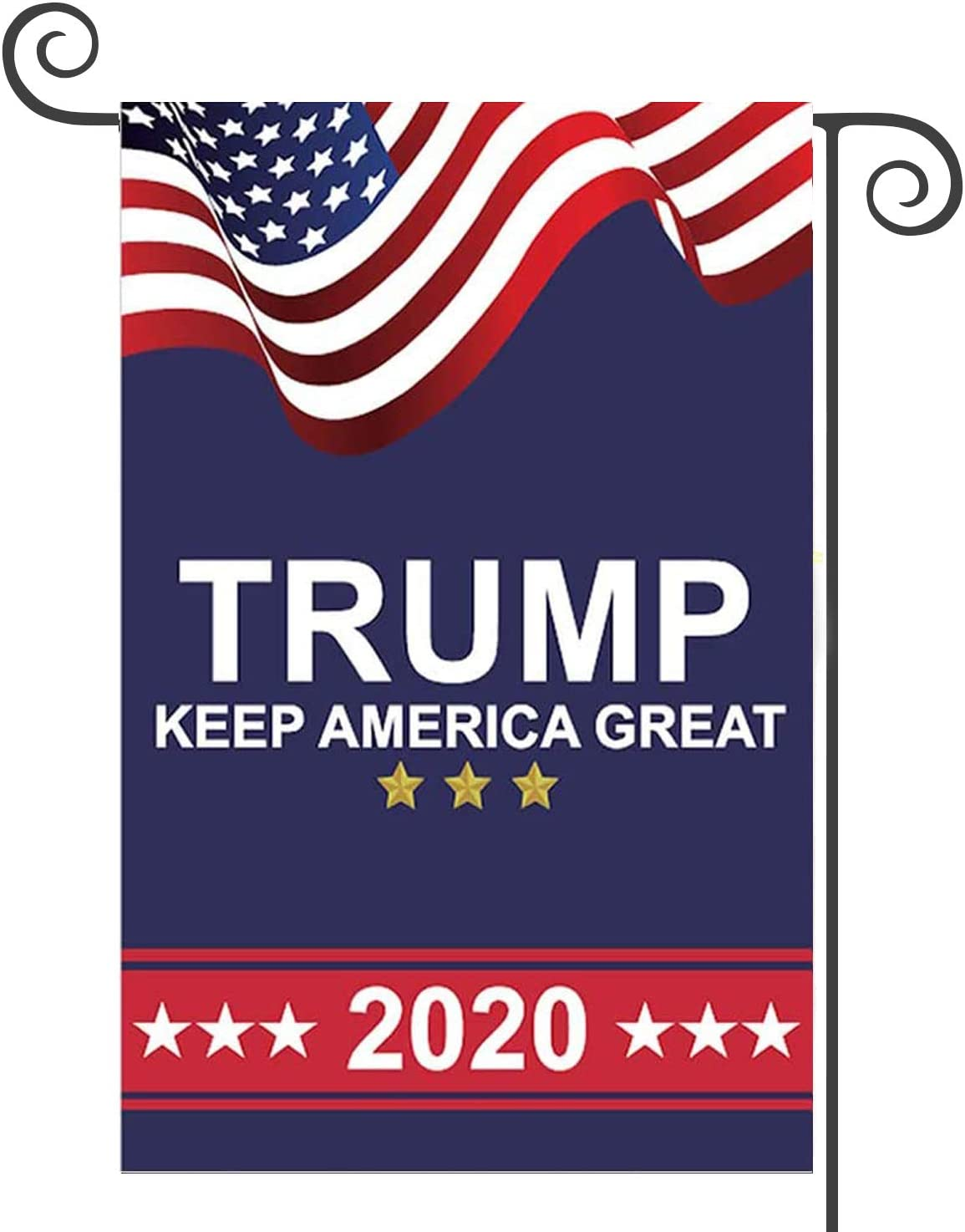 Donald Trump 2020 Garden Flags Double Sided or Outdoor Yard & Election Day(12.5 x 18 Inch)