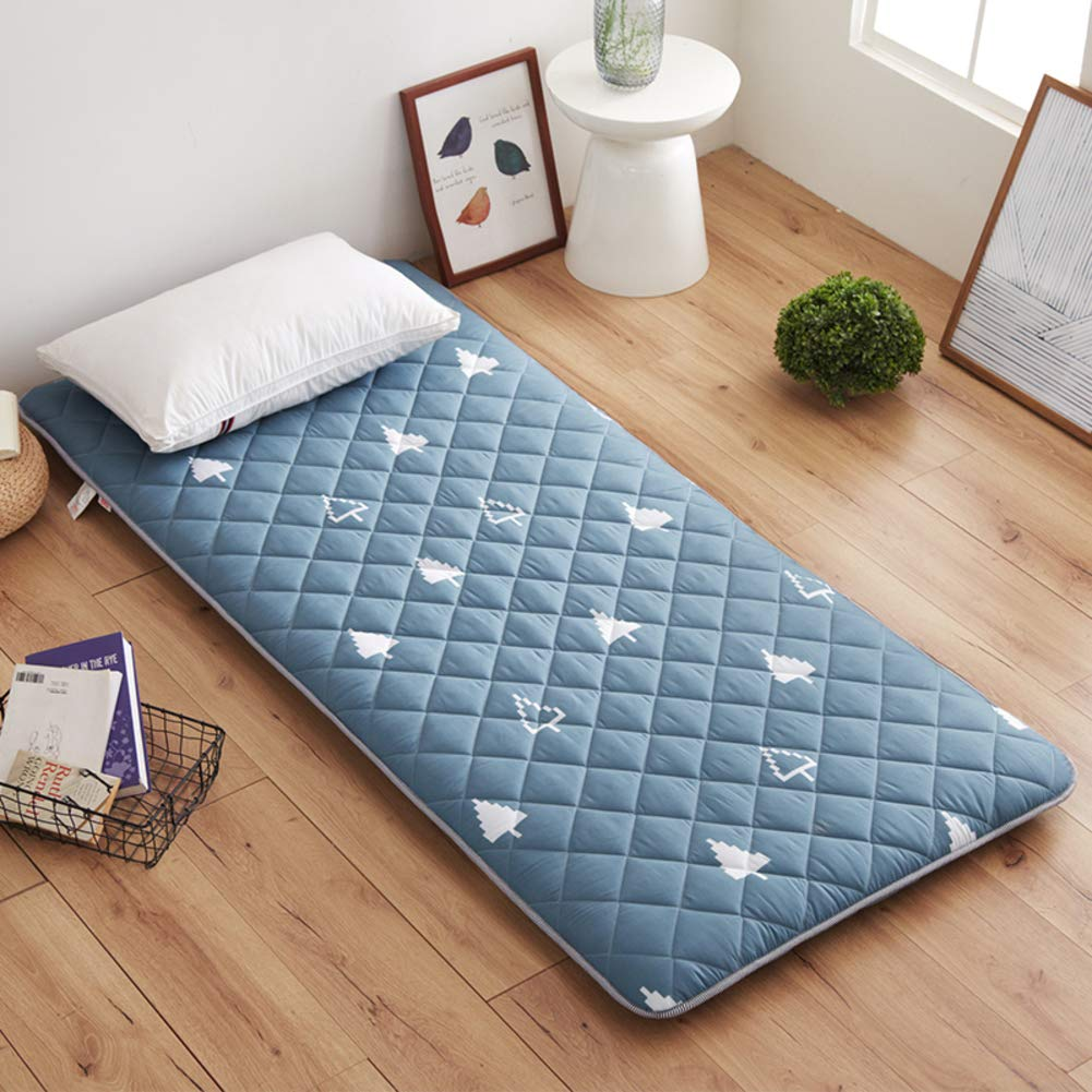 D 200x220cm(79x87inch) Breathable Tatami Mattress Mat Sleeping Pad Floor Futon Mattress Topper Foldable Japanese Bed Roll Travel Vacation Picnic Home Dorm-h 100x200cm(39x79inch)