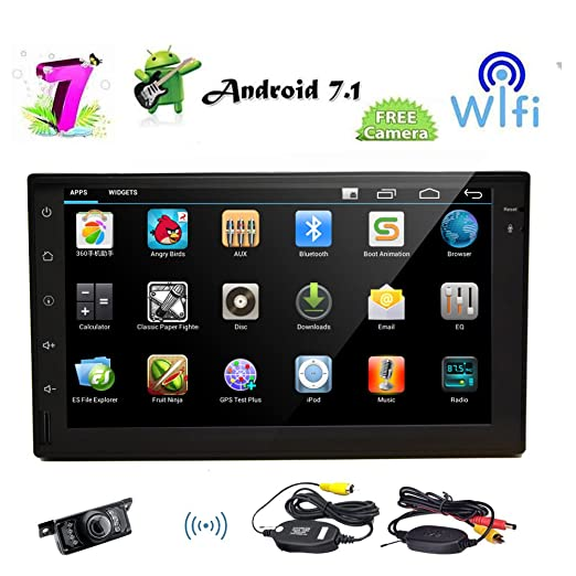 Amazon.com: Android 7.1 Octa-Core 2GB 32GB Car Stereo with 7 inch Capacitive Touch Screen in Dash Head Unit GPS Navigation Support Bluetooth Mirror Link ...