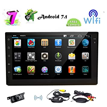 Android 7.1 Octa-Core 2GB 32GB Car Stereo with 7 inch Capacitive Touch Screen in