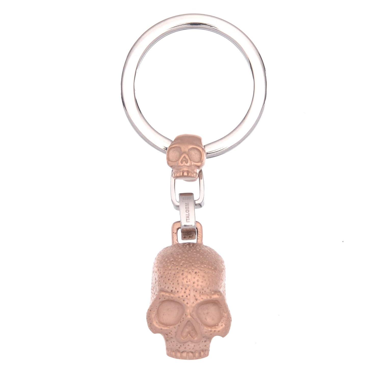 ITALGEM STEEL Mens Skull Keychain