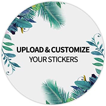 SH3079-03 Personalized Stickers Square Custom Labels 2 Custom Stickers Set of 24