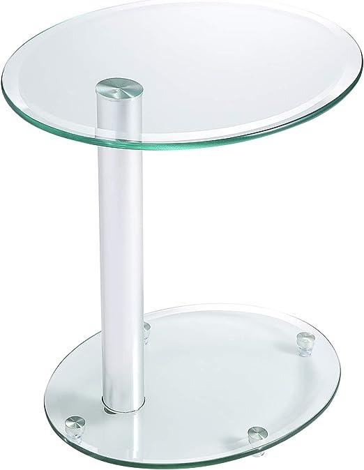 RFIVER ET3001 - Mesa de café de cristal transparente, mesita ...