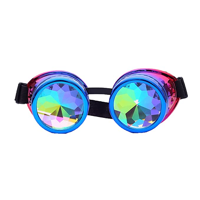 Amazon.com: FIRSTLIKE Rainbow Kaleidoscope Gafas Victoria ...