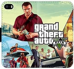 GTA GTA Héroes caja del cuero E2L5L Funda iPhone 5C funda de plástico bricolaje 3rdQ1B funda caso del tirón del teléfono