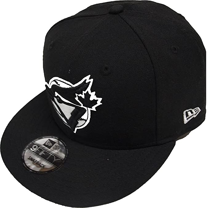 finest selection 5feb0 57e4f New Era Toronto Blue Jays Black White Logo Snapback Cap 9fifty Limited  Edition