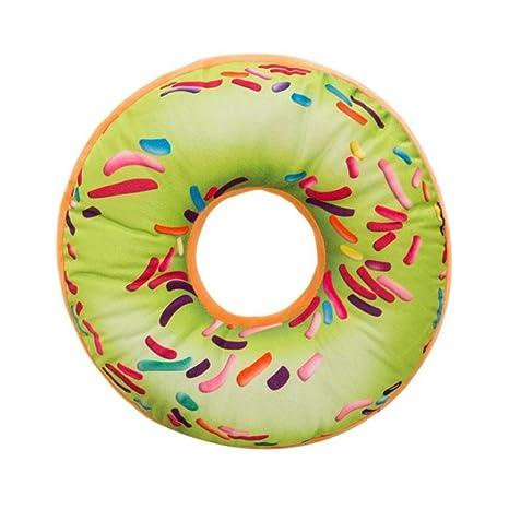 PAOLIAN Almohada De Felpa Suave CojíN De Asiento Relleno De Dulce Donut Funda De CojíN De Juguetes (N)