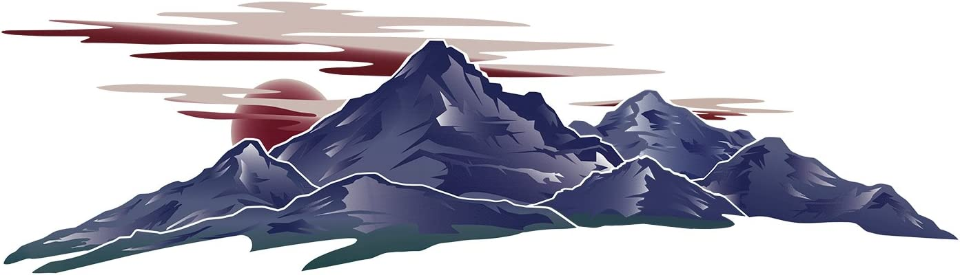 1 RV Trailer Camper Mountain Scene Graphic Decal-732-4
