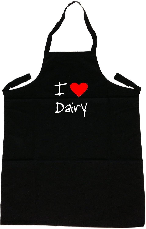 I Love Heart Dairyブラックエプロン   B00GUSSL5W