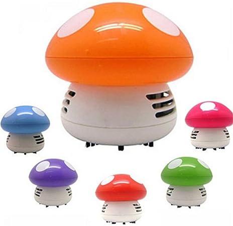 Rejoicing - Mini aspiradora de esquina para mesa de escritorio pequeña, con forma de seta para aspiradora