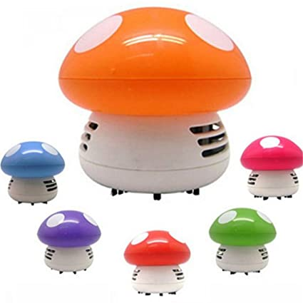Bestmemories Mini Small Desk Table Corner Dust Vacuum Cleaner Sweeper Mushroom Shaped Vacuum Cleaner Handheld Keyboard