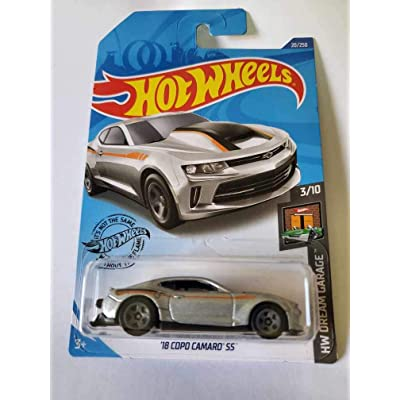 Hot Wheels 2020 Hw Dream Garage '18 Copo Camaro SS, 20/250 Silver: Toys & Games