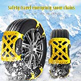 ZOINDSC Snow Chains for SUV, Winter Anti-Skid Security Snow Tire Chain of Car, Adjustable Car/Light Truck/SUV Snow Chains (Free Size-2, Color2)