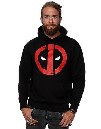 Marvel Herren Deadpool Clean Logo Kapuzenpullover XXX-Large Schwarz