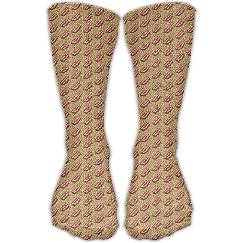 8-bit Bacon Lov1er Graduated Compression Socks For Women And Men - Best Medical, Nursing, Travel Running Fitness (Bacon Birthday Party Supplies)