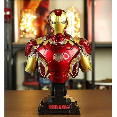 JTWMY Avengers Iron Man Half Bust Estatua Modelo Que Brilla ...