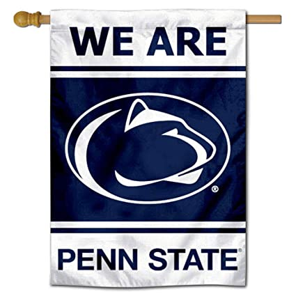 """Penn State University PSU 2 Sided House Flag Nittany Lions NCAA Licensed 28/""""x40/"""""""