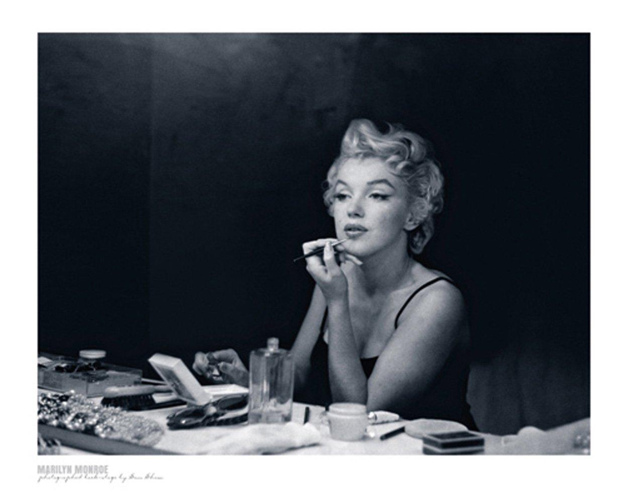 Editions Braun W04167 Shaw Marilyn Monroe Backstage Affiche Papier Noir 40x50 cm