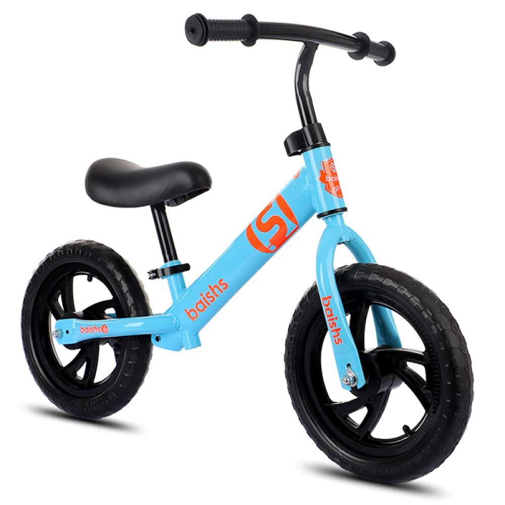 azul WINNG Bicicleta De Equilibrio para Niños Bicicleta De 12 Pulgadas Coche De Equilibrio 2-6 Años Deslizante Coche,blanco
