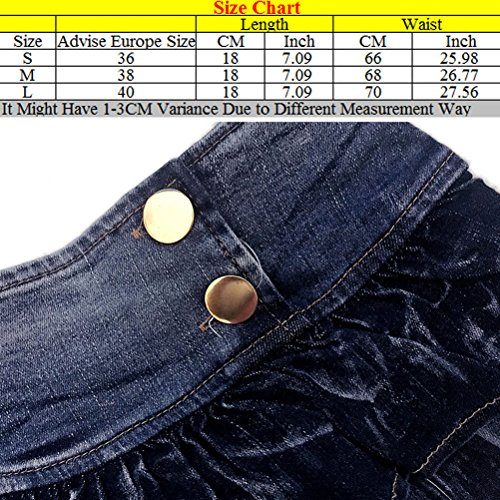 Zhhlinyuan Casual Fashion Ladies Laciness Shorts Pants Performance Slim Fit Jean Shorts Alta calidad for Women Blue