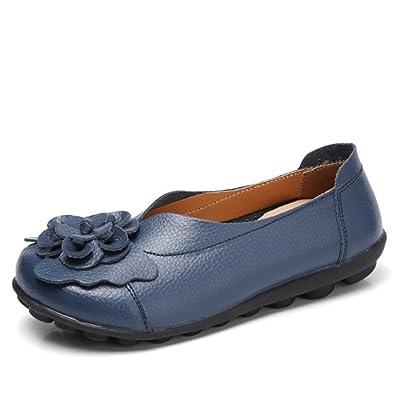 c5c8e602721 Socofy Slip On Leather Flat Shoes
