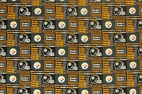 Pittsburgh Steelers Football Checkered Sheeting Fabric Cotton 5 Oz 58-60