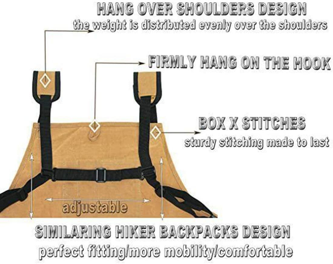 Fits Men /& Women Cross-Back Straps Adjustable Size Utility Canvas Work Tool Apron with Pockets Protective and Waterproof Genericb Garden Multifunctional Electrician Work Apron