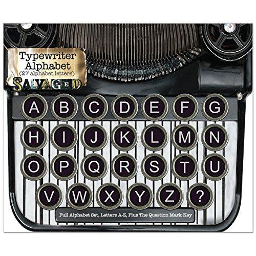 Salvaged Vintage Typewriter Keys-Alphabet